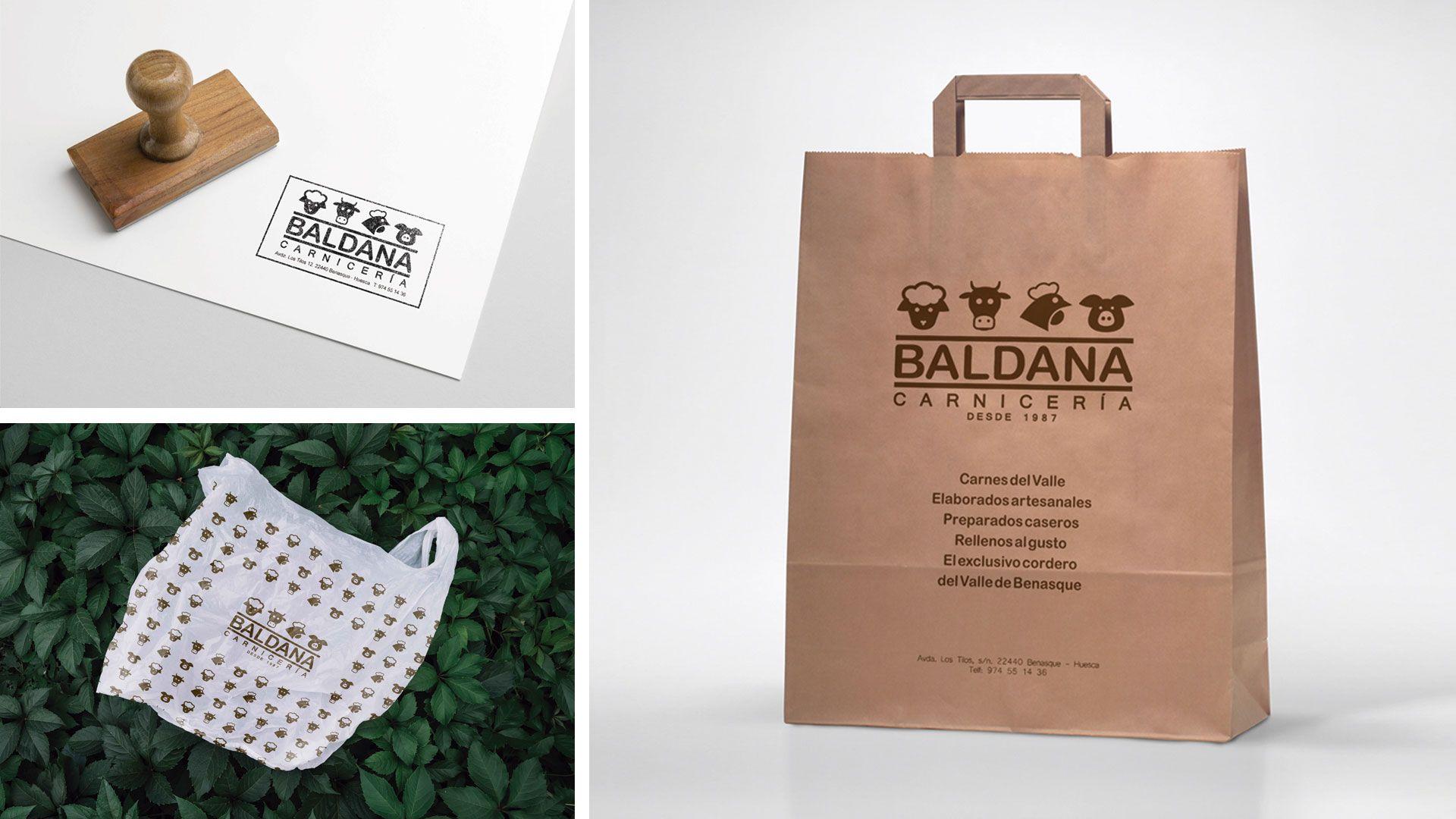 Bolsas personalizadas carnicería Baldana