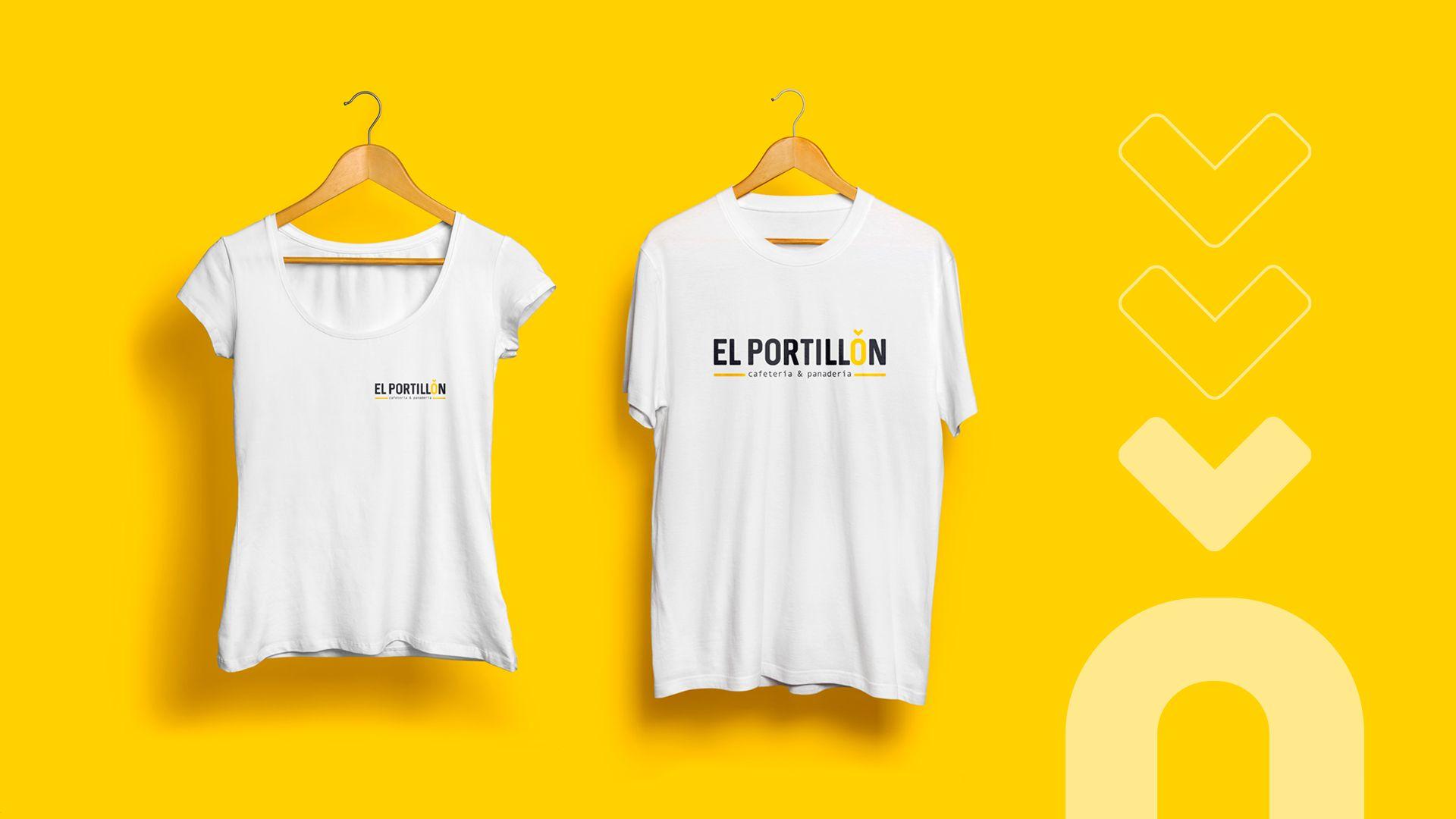 Camisetas corporativas EL Portillón Cafetería
