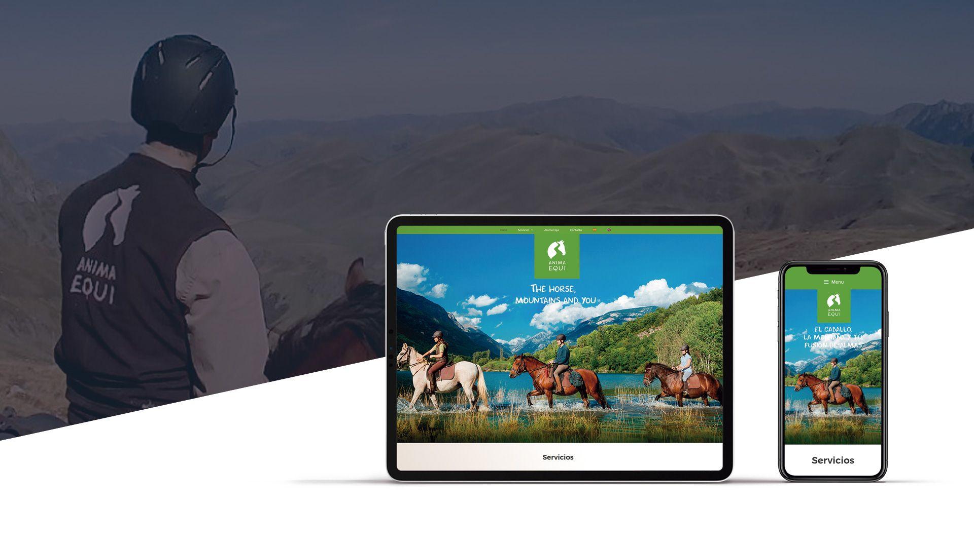 Diseño web Anima Equi turismo ecuestre