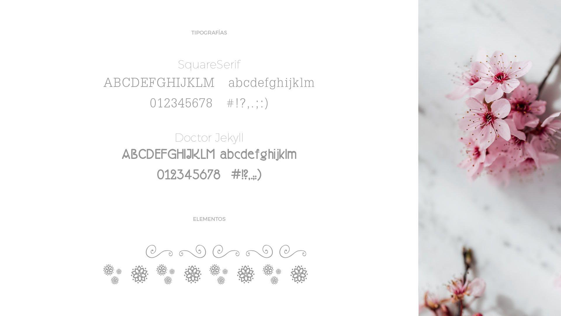 Floristeria Hyedra tipografías