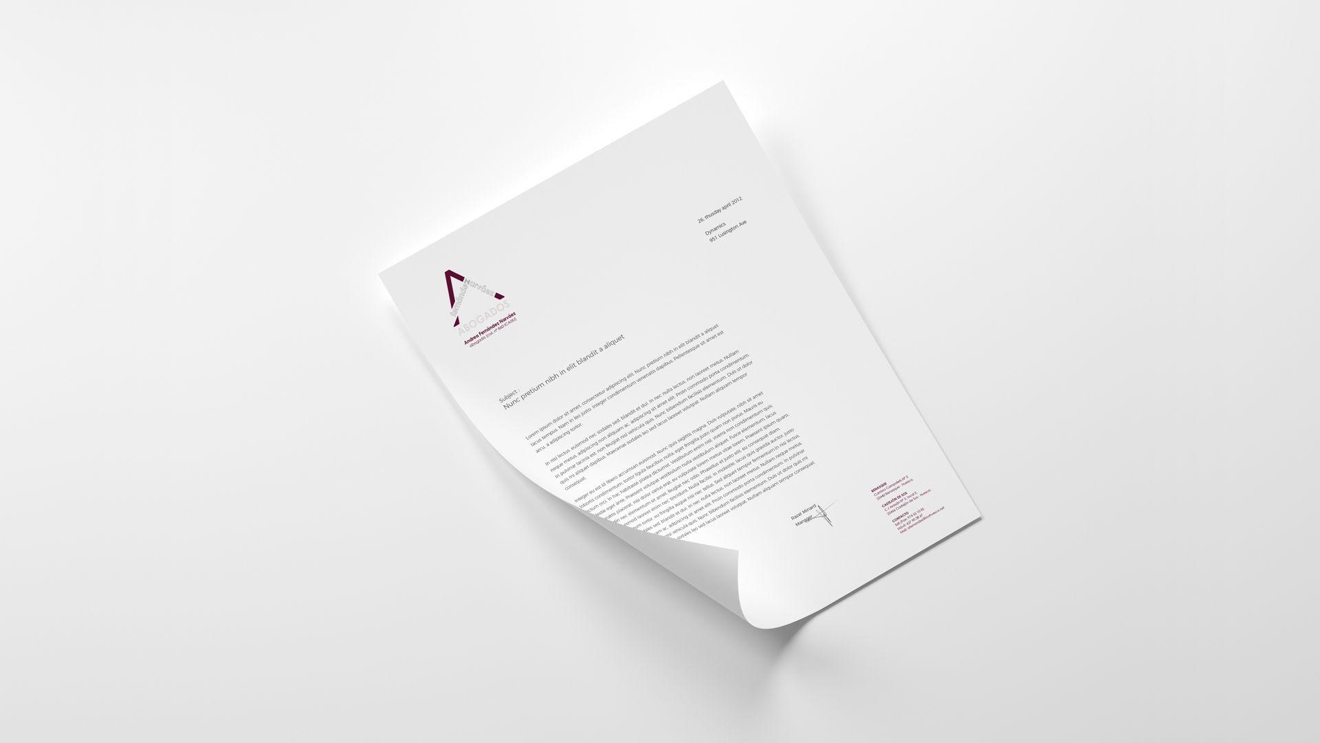 Imagen de marca para despacho de abogados