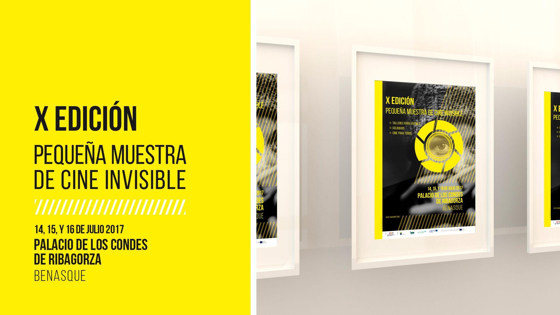 Cartelería de la XI Edición de la muestra de cine invisible