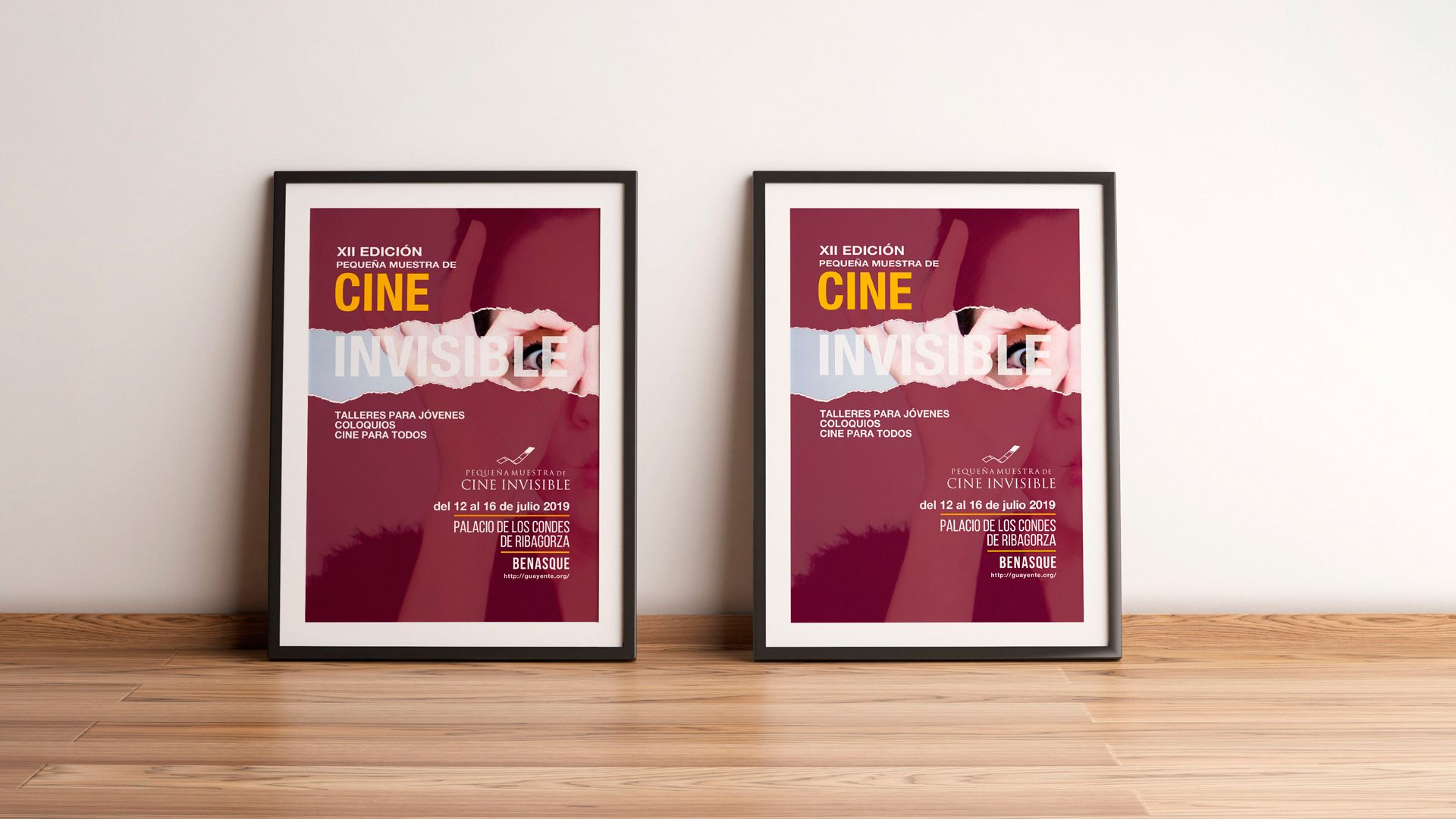 XII edición muestra de cine invisible 2019 - Poster