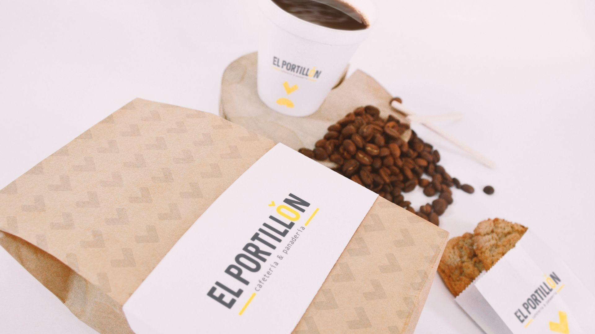 Diseño de empaques cafetería El Portillón de Benasque