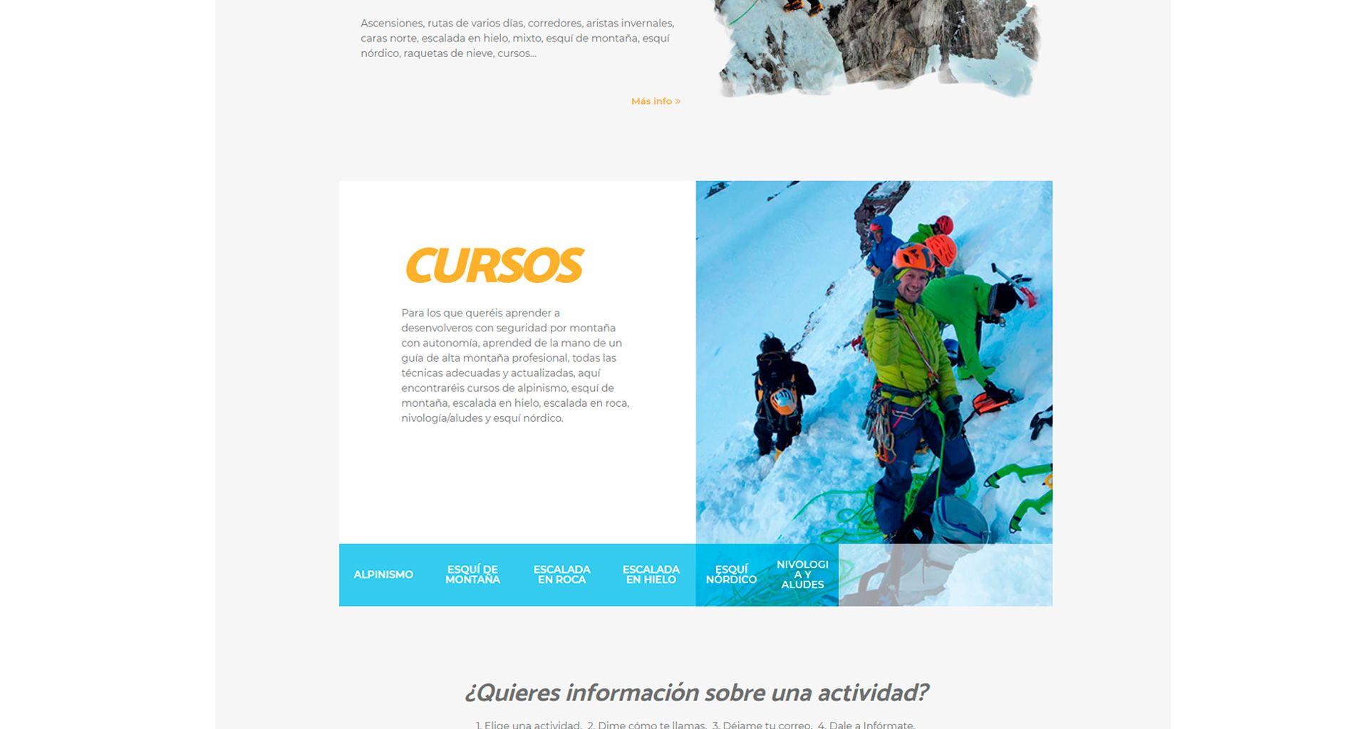 Guía de alta montaña Miguel Ayuda